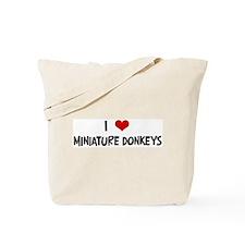 I Love Miniature Donkeys Tote Bag