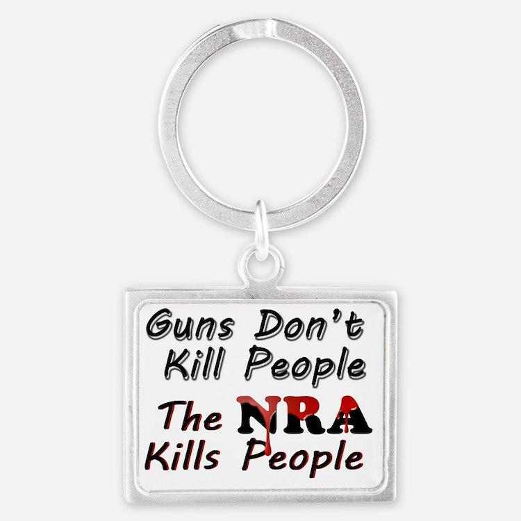 The NRA Kills People Landscape Keychain