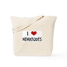 I Love Nematodes Tote Bag