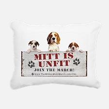 Mitt is Unfit- Lawn sign Rectangular Canvas Pillow