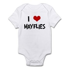 I Love Mayflies Infant Bodysuit