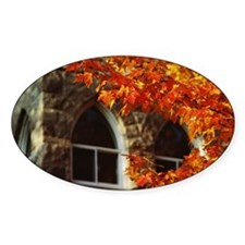 Fall foliage and corner of building Decal