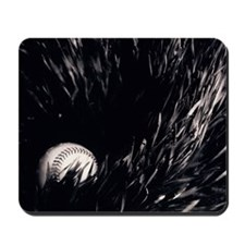 Baseball lying in grass, close-up B and  Mousepad