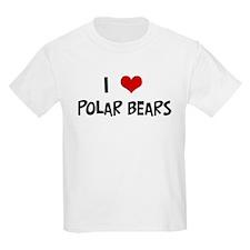 I Love Polar Bears Kids T-Shirt