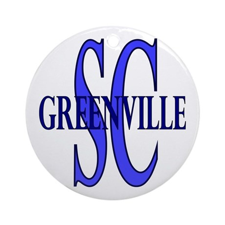 Greenville SC Ornament (Round)