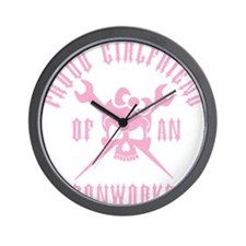 Proud Girlfriend of an Ironworker - PIN Wall Clock