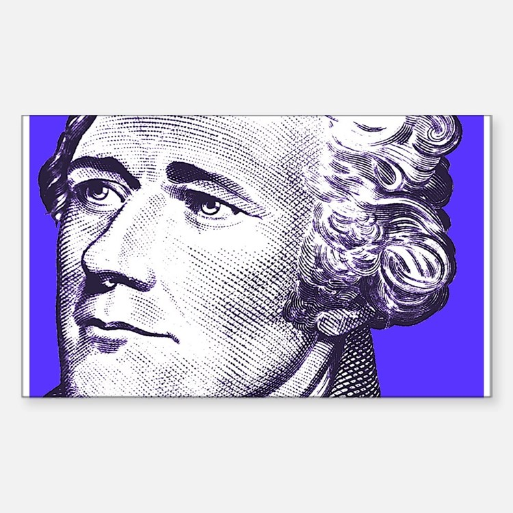 Alex In Blue Rectangle Decal