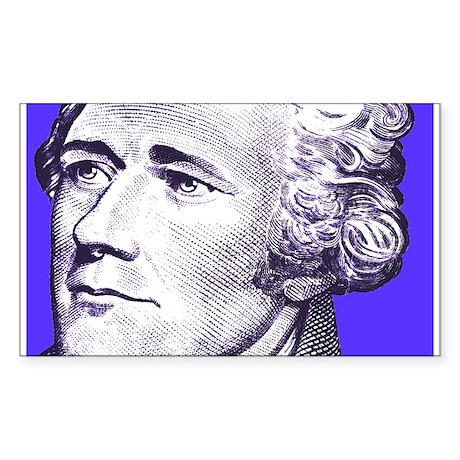 Alex In Blue Rectangle Sticker