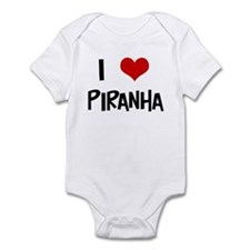 I Love Piranha Infant Bodysuit