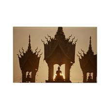 Laos,Vientiane That Luang Stupa,  Rectangle Magnet