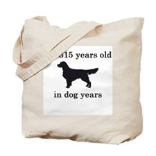 45 birthday dog years golden retriever Tote Bag