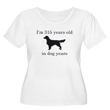 45 birthday dog years golden retriever Plus Size T