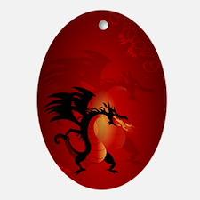 Funny dragon Ornament (Oval)