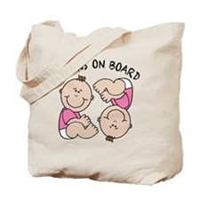 Twin Girls on Board Tote Bag