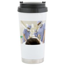 Medical staff transporting boy  Travel Mug