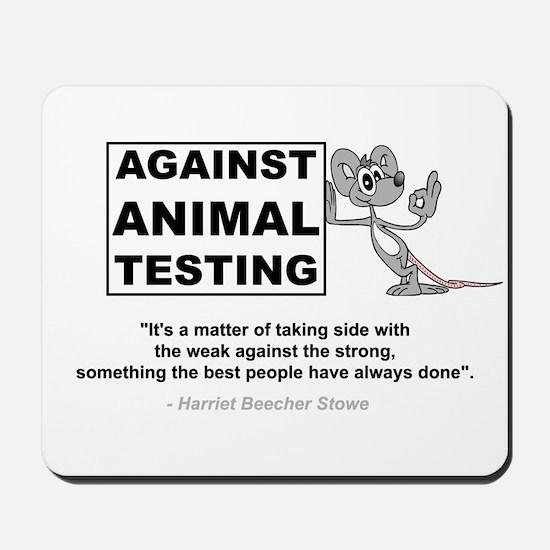Against Animal Testing Mousepad