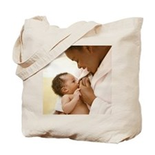Mother nursing baby boy 0-3 months Tote Bag