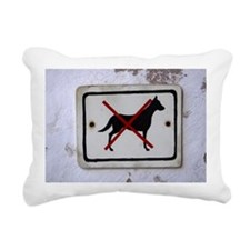 Dogs prohibited sign Rectangular Canvas Pillow