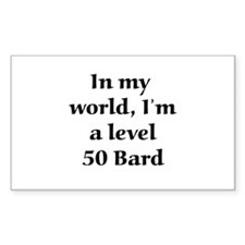 Level 50 Bard Rectangle Decal