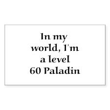 Level 60 Paladin Rectangle Decal