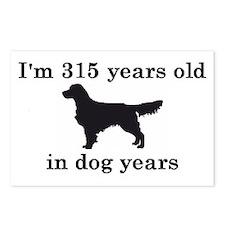 45 birthday dog years golden retriever 2 Postcards