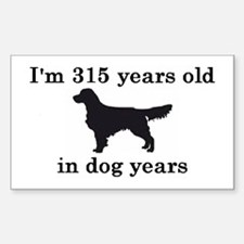 45 birthday dog years golden retriever 2 Decal