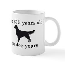 45 birthday dog years golden retriever 2 Mugs