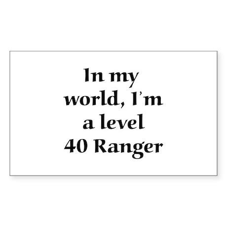 Level 40 Ranger Rectangle Sticker