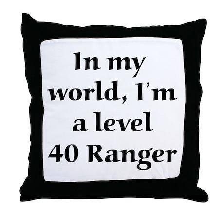 Level 40 Ranger Throw Pillow