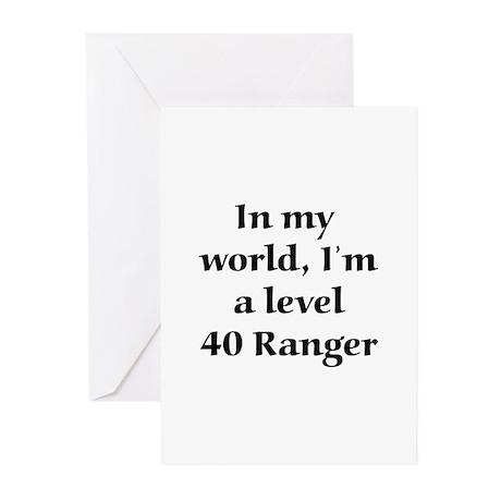 Level 40 Ranger Greeting Cards (Pk of 10)