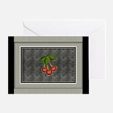 Chalkboard Checks Monogram Greeting Cards