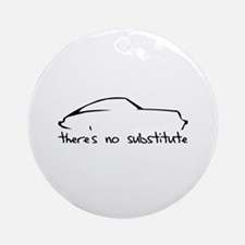 Porsche 911 Black Ornament (Round)
