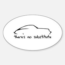 Porsche 911 Black Oval Decal