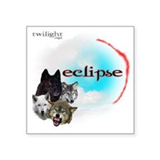 "Twilight Eclipse Movie Lite Square Sticker 3"" x 3"""