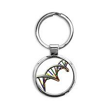 DNA molecule Round Keychain