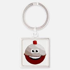 Happy bobber Square Keychain