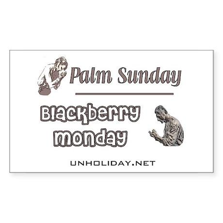 Blackberry Monday Rectangle Sticker