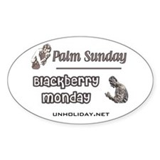 Blackberry Monday Oval Decal