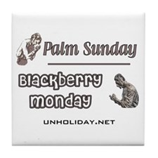 Blackberry Monday Tile Coaster