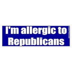 Allergic to Republicans Bumper Bumper Sticker