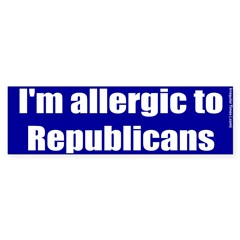 Allergic to Republicans Bumper Bumper Sticker