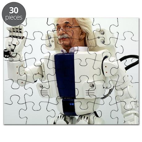 Robot Albert Einstein waving Puzzle