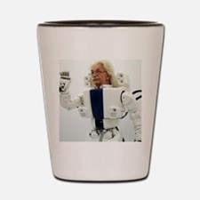 Robot Albert Einstein waving Shot Glass