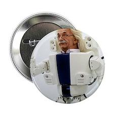 """Robot Albert Einstein waving 2.25"""" Button"""