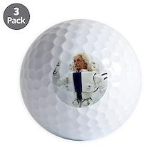 Robot Albert Einstein waving Golf Ball