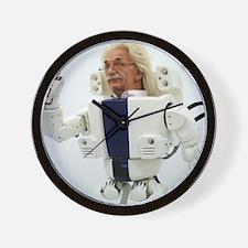 Robot Albert Einstein waving Wall Clock
