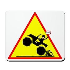 Gas It Stickman Yellow Placard Mousepad