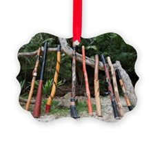 a variety of didgeridoo lined up  Ornament