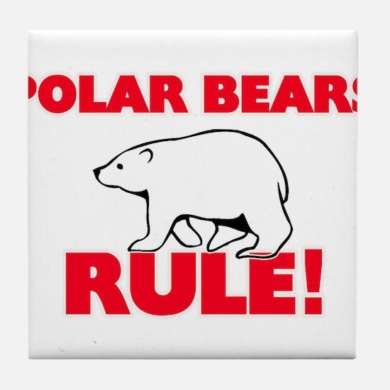 Polar Bears Rule! Tile Coaster