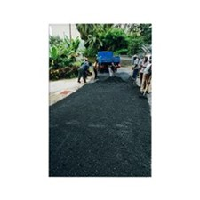 Road construction Rectangle Magnet
